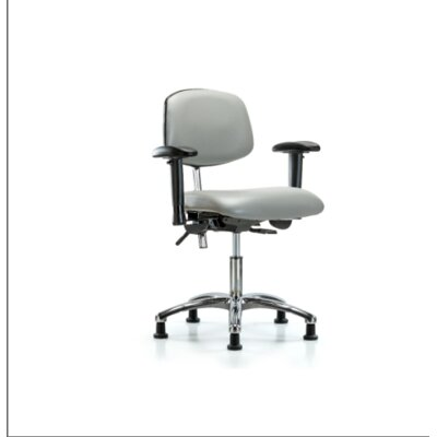Desk Height Ergonomic Office Chair Color (Upholstery): Dove, Casters/Glides: Glides, Tilt Function: Included