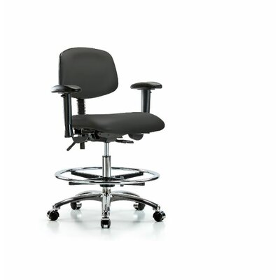 Aliya Medium BenchOffice Chair Casters/Glides: Casters, Color: Imperial Blue, Tilt Function: Not Included