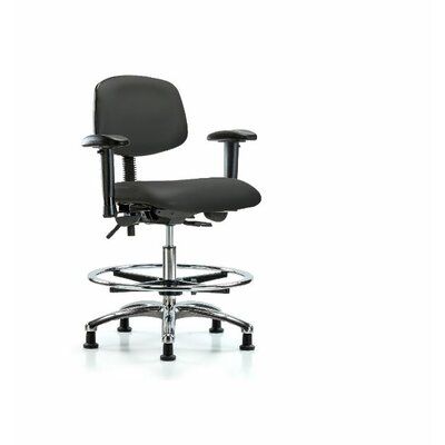 Aliya Medium BenchOffice Chair Color: Black, Casters/Glides: Glides, Tilt Function: Included