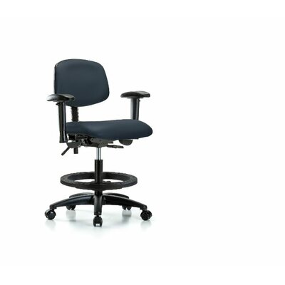 Lyric Medium BenchOffice Chair Casters/Glides: Casters, Color: Imperial Blue, Tilt Function: Not Included