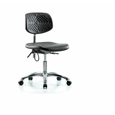 Blanca Desk Height Office Chair Color (Upholstery): Black, Casters/Glides: Casters, Tilt Function: Included