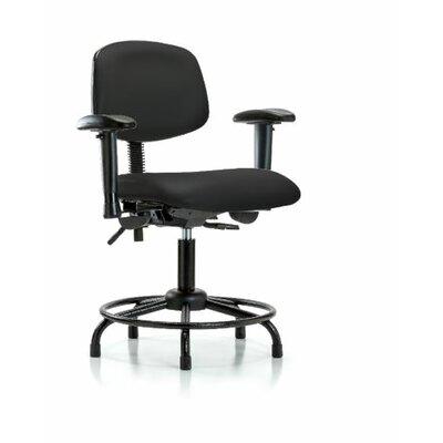 Otis Round Tube Base Ergonomic Office Chair Color: Black, Casters/Glides: Glides, Tilt Function: Included