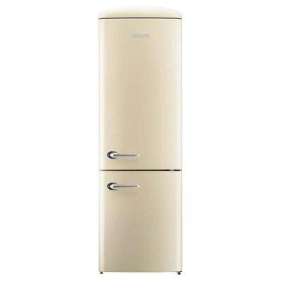 Retro 12 cu. ft. Energy Star Bottom Freezer Refrigerator Finish: Champagne