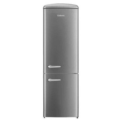 Retro 12 cu. ft. Energy Star Bottom Freezer Refrigerator Finish: Silver