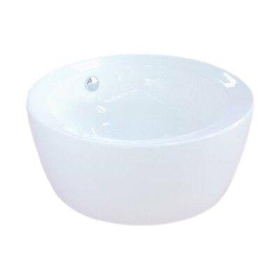 Dynasty Ceramic Circular Vessel Bathroom Sink with Overflow