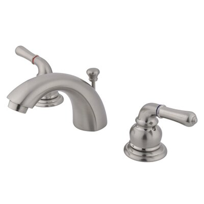 Elizabeth Widespread faucet Bathroom Faucet with Drain Assembly Finish: Satin Nickel