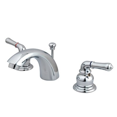 Widespread faucet Bathroom Faucet with Drain Assembly Finish: Satin Nickel/Polished Brass, Optional Accessories: With Pop Up Drain