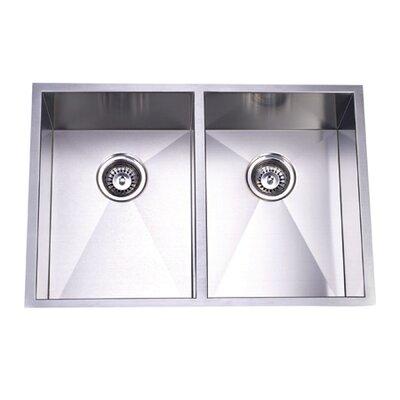 29 X Towne Square Undermount Offset Double Bowl Kitchen Sink Wayfair