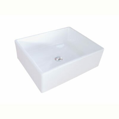 Elements Ceramic Rectangular Vessel Bathroom Sink