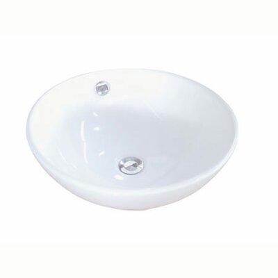 Perfection Ceramic Circular Vessel Bathroom Sink with Overflow