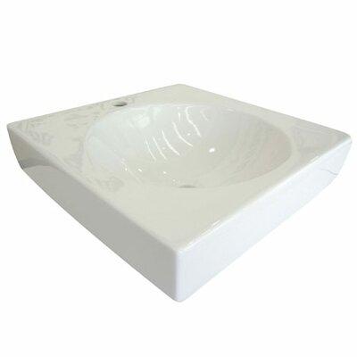 Beverly Hills Ceramic Square Vessel Bathroom Sink Sink Finish: White