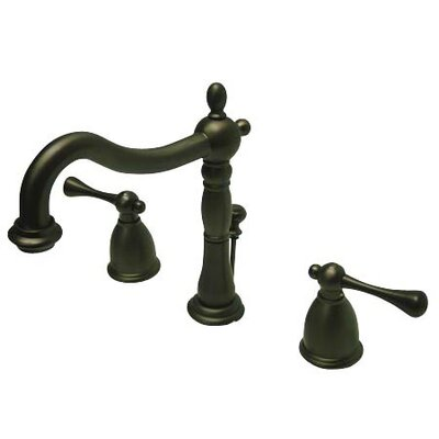 Elizabeth Widespread Bathroom Faucet with Drain Assembly Finish: Oil Rubbed Bronze