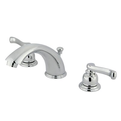 Widespread Bathroom Faucet with Drain Assembly Finish: Satin Nickel/Polished Chrome