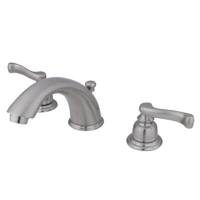 Widespread Bathroom Faucet with Drain Assembly Finish: Satin Nickel