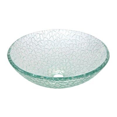 Nordica Glacier Glass Circular Vessel Bathroom Sink