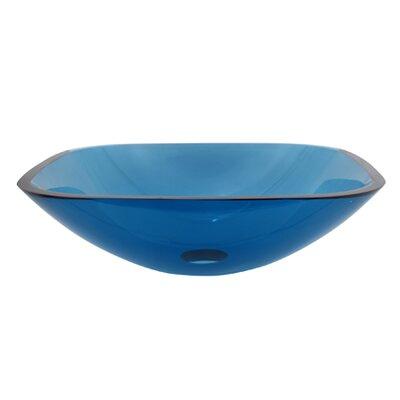 Elements of Design Square Temper Glass Vessel Bathroom Sink