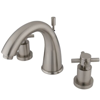 South Beach Double Cross Handle Widespread Bathroom Faucet Finish: Satin Nickel