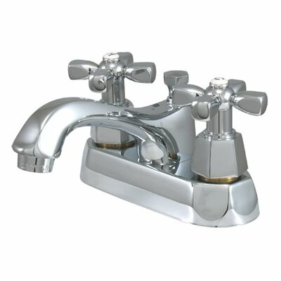 Metropolitan Centerset Bathroom Faucet with Double Cross Handles Finish: Polished Chrome