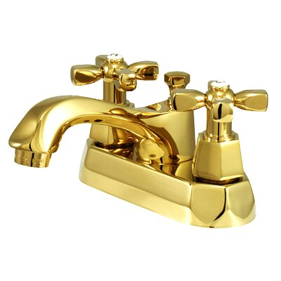 Metropolitan Centerset Bathroom Faucet with Double Cross Handles Finish: Polished Brass