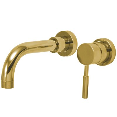Concord Wall Mount Sink Faucet without Pop-Up Finish: Polished Brass