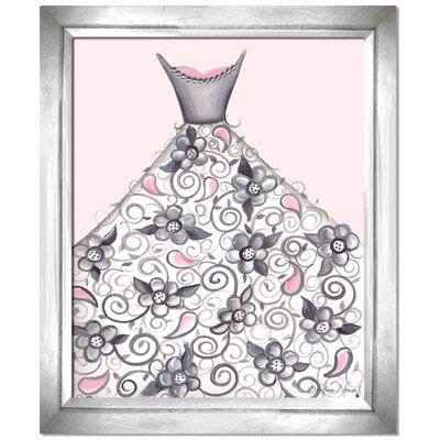 Dress Up Petal Princess Canvas Art Frame Color: White, Background Color: Purple