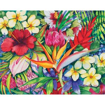 "Magic Slice 12"" x 15"" Tropical Floral Design Cutting Board"