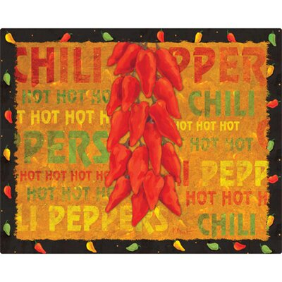 "Magic Slice 12"" x 15"" Chili Peppers Design Cutting Board"