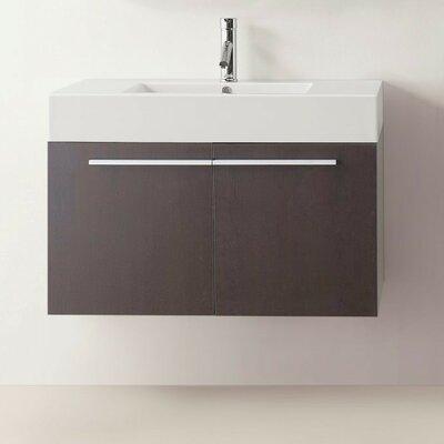 """Frausto 35"""" Single Bathroom Vanity Set Base Finish: Wenge"""