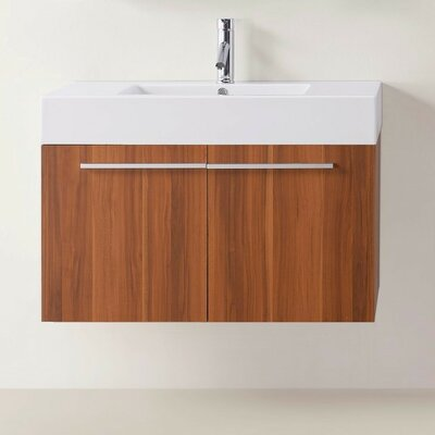 "Frausto 35"" Single Bathroom Vanity Set Base Finish: Plum"