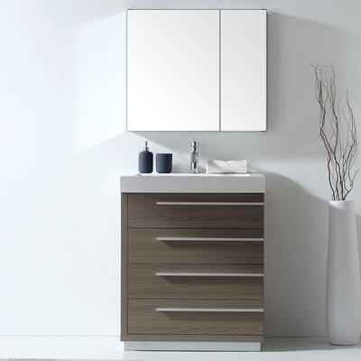 "Copher 29"" Single Bathroom Vanity Set with Mirror Faucet Included: No"