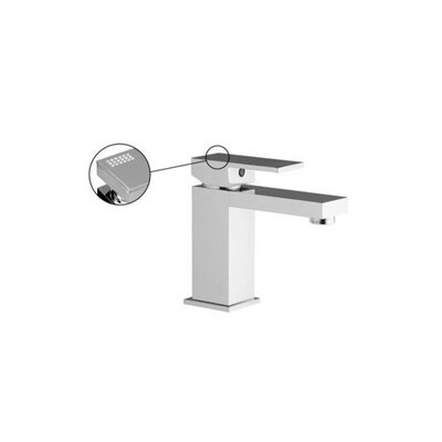 Brick Single Hole Bathroom Sink Faucet with Finish: Brushed Nickel