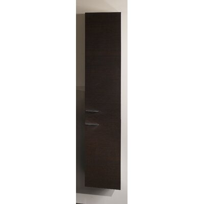 Simple Tall Storage Accent cabinet Color: Wenge