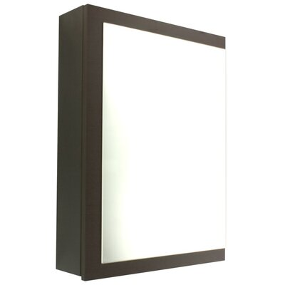 "Luna 20.6"" x 27.7"" Surface Mounted Medicine Cabinet with Lighting Finish: Wenge"