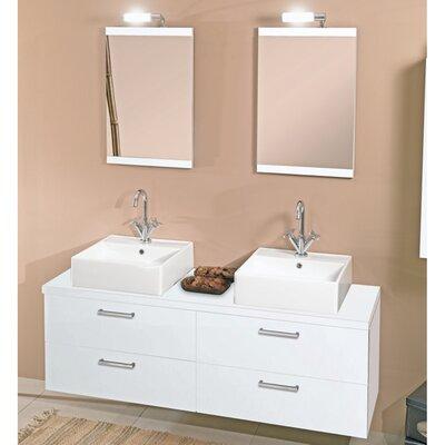 "Iotti by Nameeks Aurora 60"" Double Bathroom Vanity Set with Mirror"