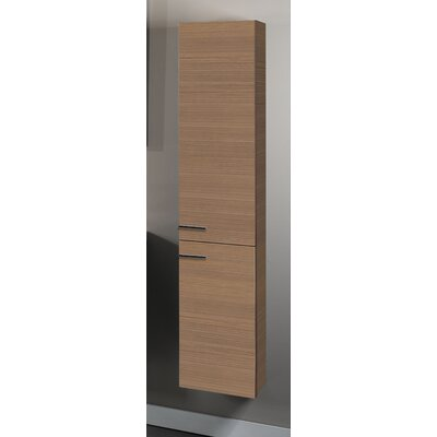 Simple Tall Storage Accent cabinet Color: Natural Oak