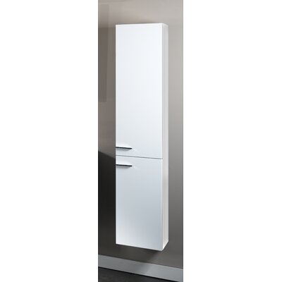 Simple Tall Storage Accent cabinet Color: Glossy White
