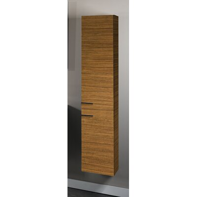 Simple Tall Storage Accent cabinet Color: Teak