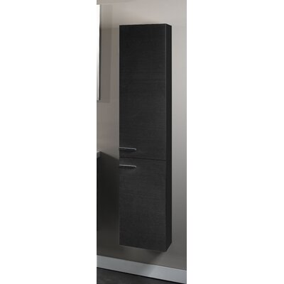 Simple Tall Storage Accent cabinet Color: Gray Oak