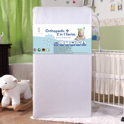 Maxi-Pedic with Memory Foam Crib Mattress