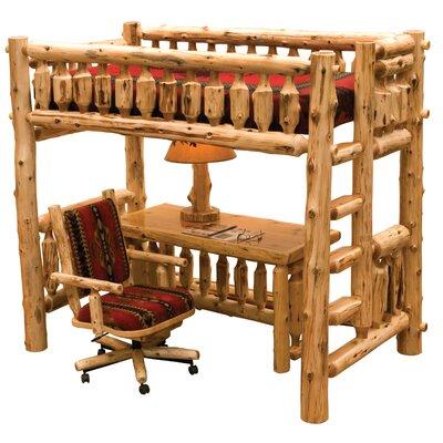 Cedar Loft Bed Color: Vintage, Configuration: Ladder on Right