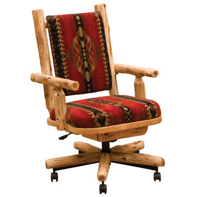Cedar Bankers Chair Upholstery: Peters Stone Cabin