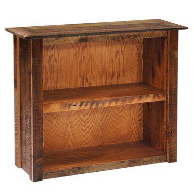 Reclaimed Barnwood Standard Bookcase Color: Barnwood, Size: Large