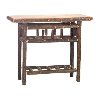 Hickory Open Console Table Color: Rustic Alder