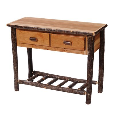 Hickory Two Drawer Console Table Color: Traditional