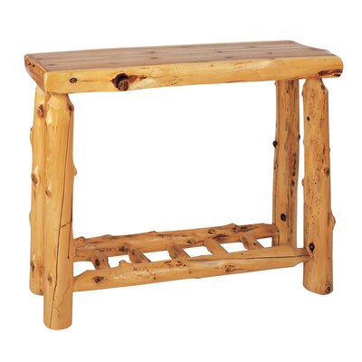 Traditional Cedar Log Console Table