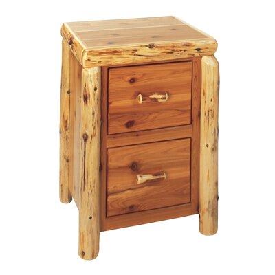 Fireside Lodge Traditional Cedar Log 2-Drawer File Cabinet