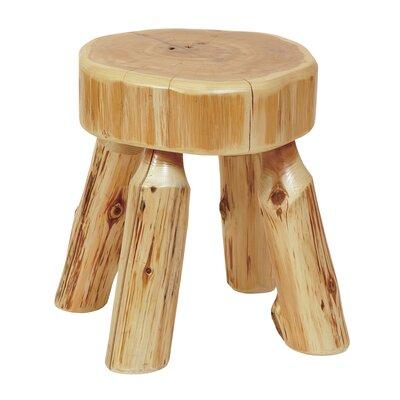 Traditional Cedar Log Foot Accent Stool