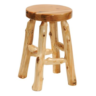 """Traditional Cedar Log Accent Stool Size: 24"""" Height"""