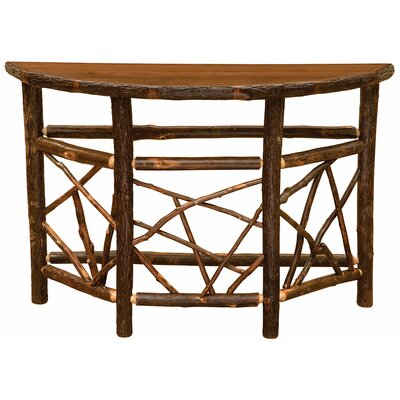 Hickory Console Table Color: Rustic Alder