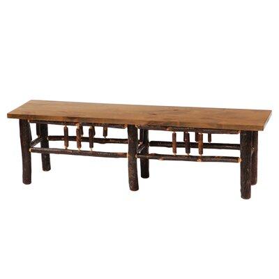 "Hickory Bench Color: Rustic Alder, Size: 72"""